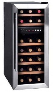 21 BOTTLE DUAL ZONE WOOD RACK WINE COOLER