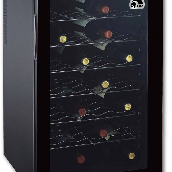 Tuaca Light Up Two Bottle Refrigerated Liquor Shot Chiller: 28 BOTTLE WINE COOLER HIGH EFFICIENCY HEAT PIPE SYSTEM